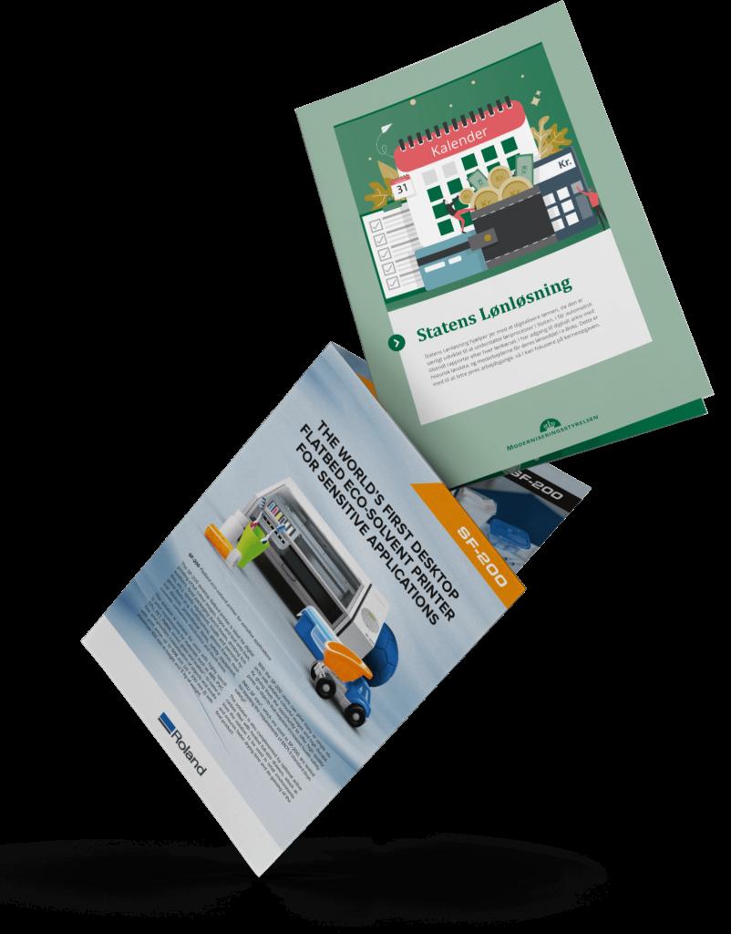 Grafisk design brochurer
