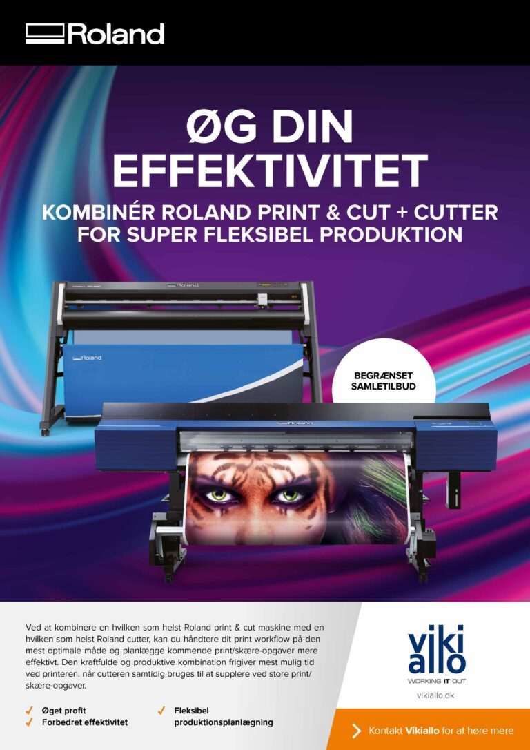 Roland annonce med to printere