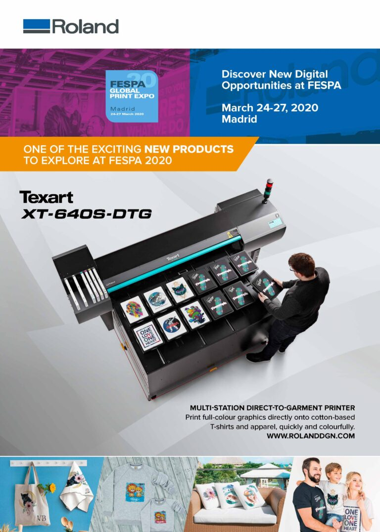 Annonce for Roland til Fespa Expo