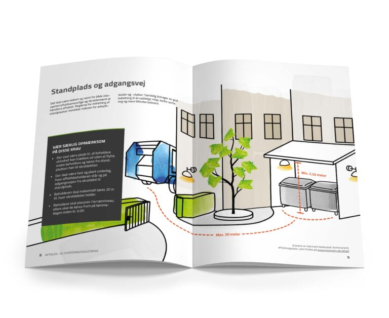 Standplads og adgangsvej illustration