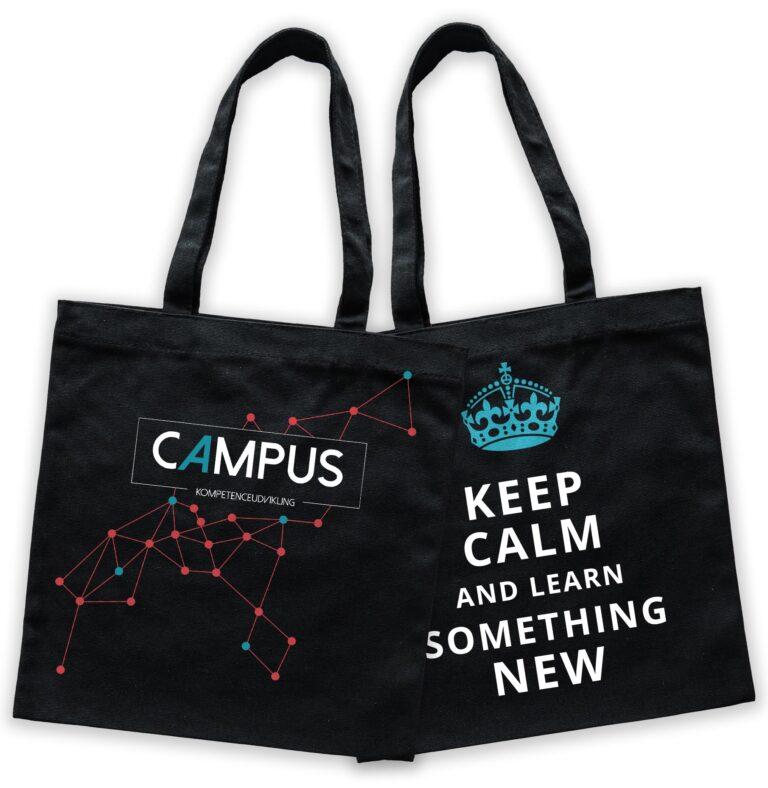 To sorte poser med Campus logo